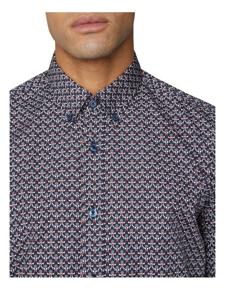 2 Colour Long Sleeve Print Shirt image 3