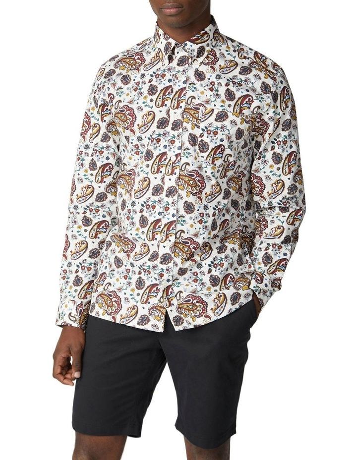 Long Sleeve Multi Col Paisley Shirt image 1