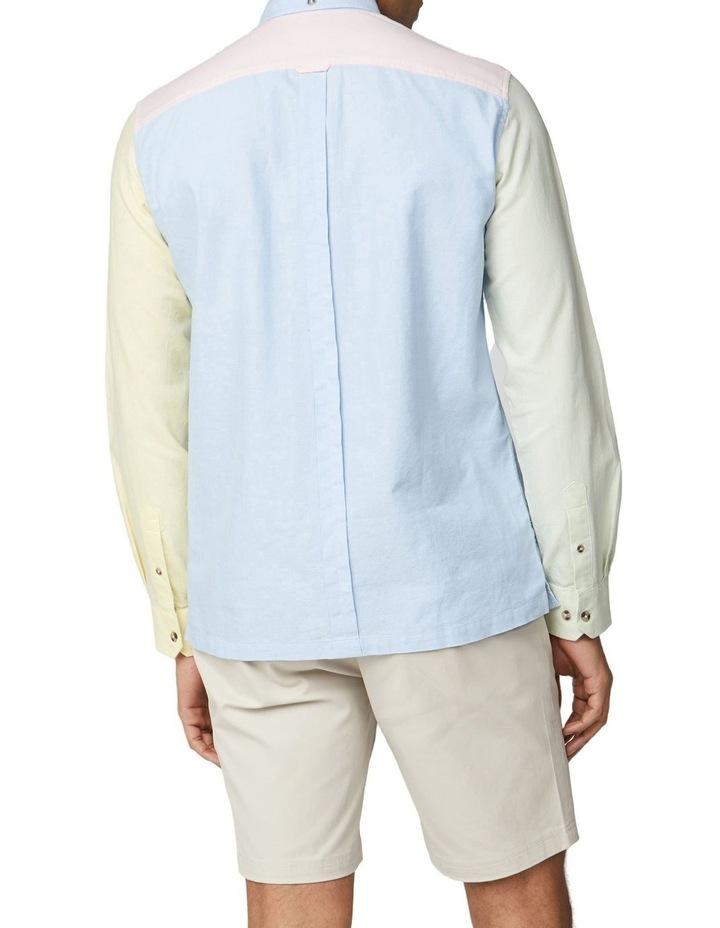 Long Sleeve Colour Block Oxford Shirt image 2