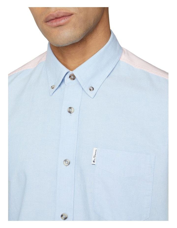 Long Sleeve Colour Block Oxford Shirt image 3