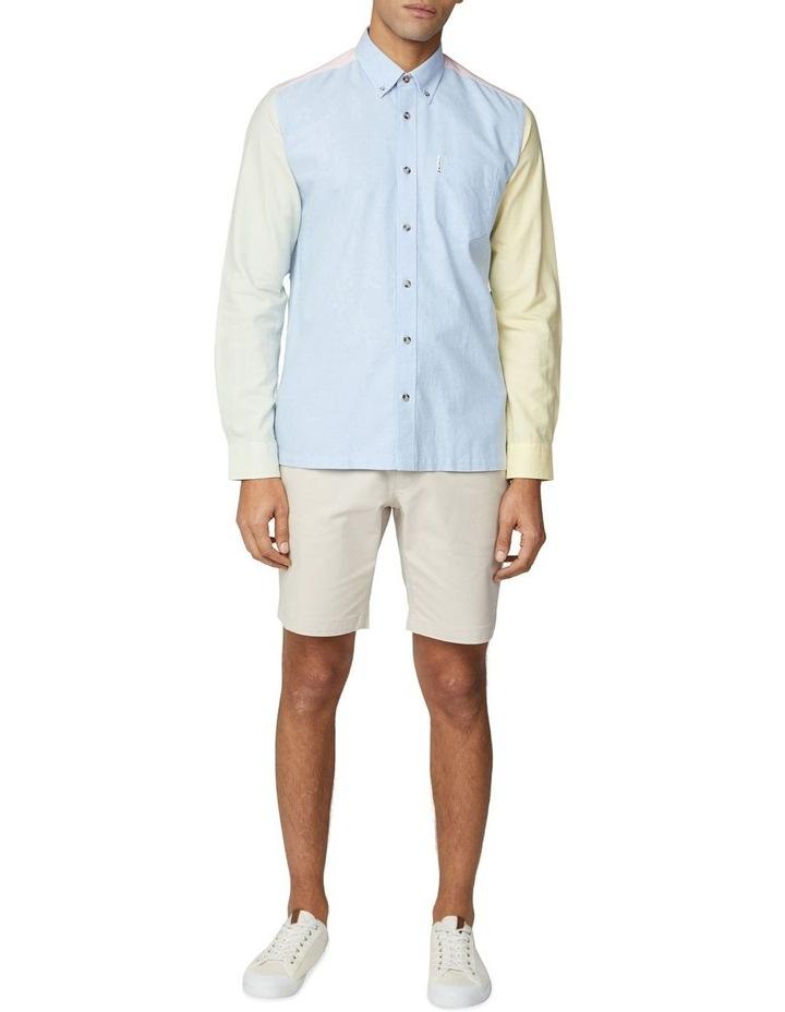 Long Sleeve Colour Block Oxford Shirt image 4