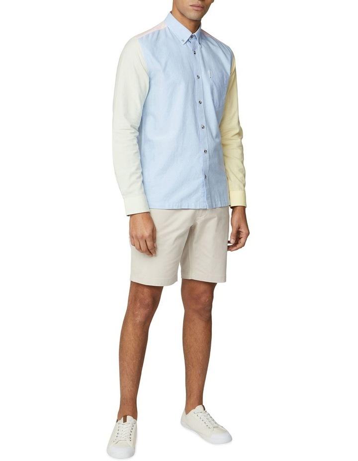 Long Sleeve Colour Block Oxford Shirt image 5