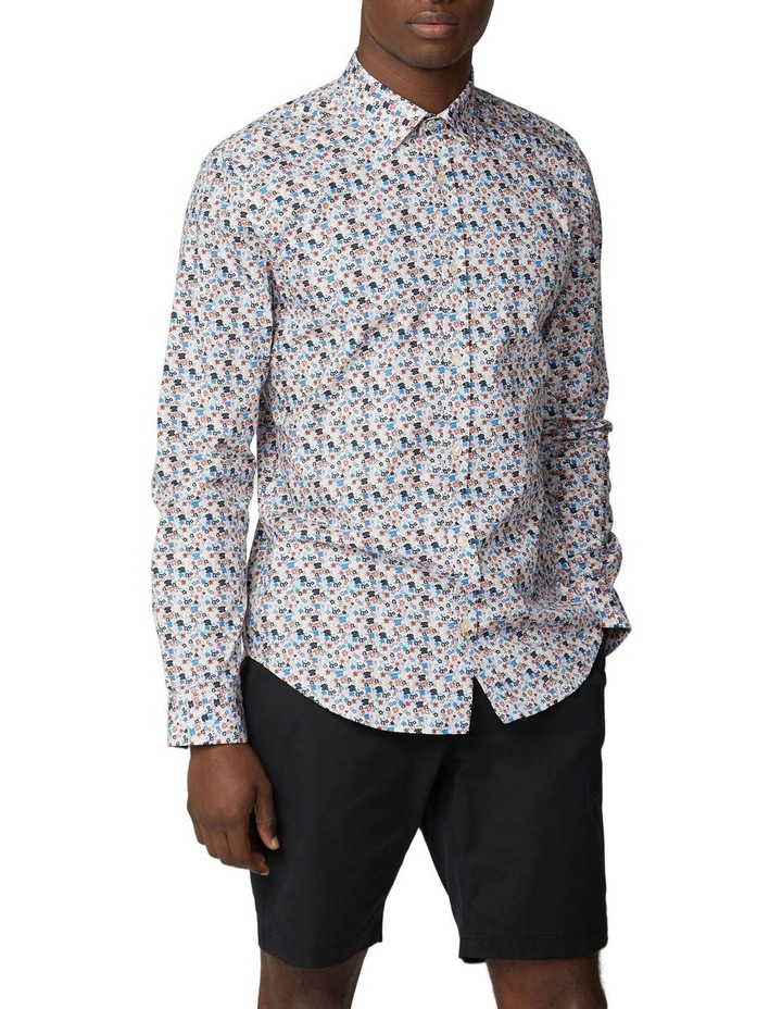 Long Sleeve Multi Col Floral Shirt image 1