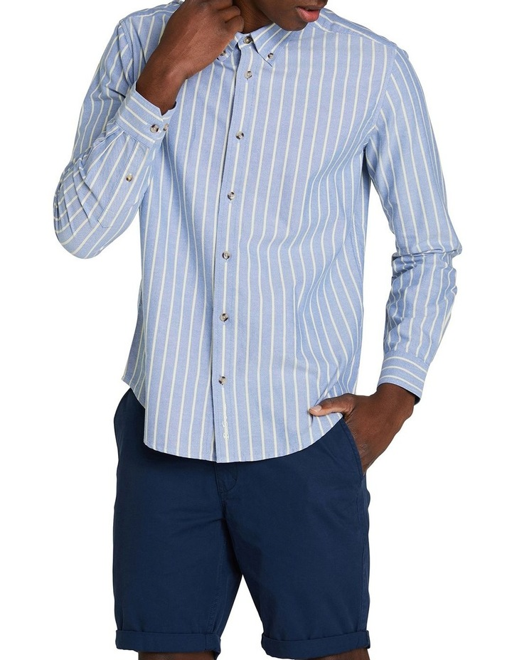 Long Sleeve Stripe Oxford Mod Shirt image 1