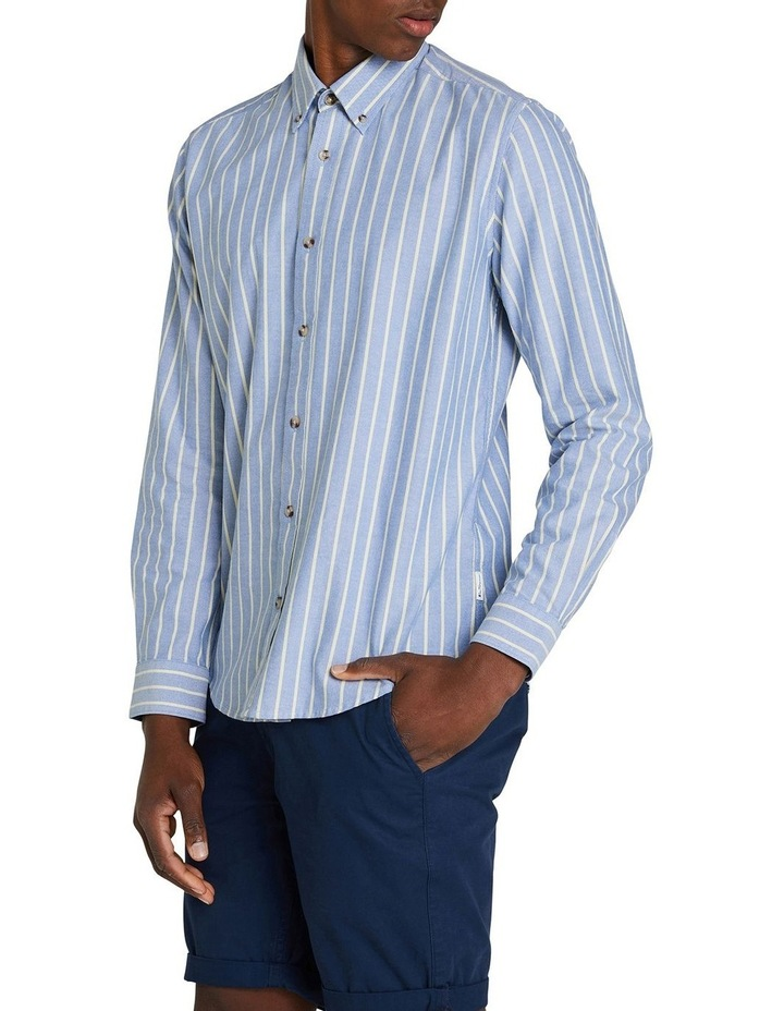 Long Sleeve Stripe Oxford Mod Shirt image 2