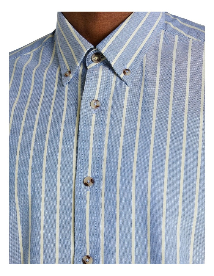 Long Sleeve Stripe Oxford Mod Shirt image 4