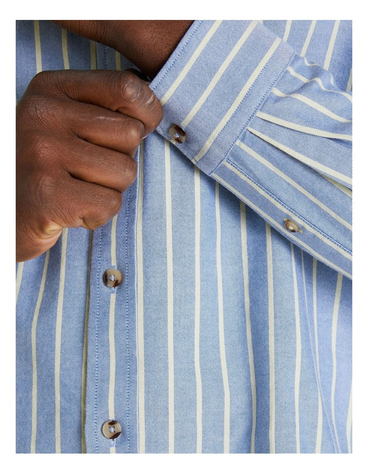 Long Sleeve Stripe Oxford Mod Shirt image 5