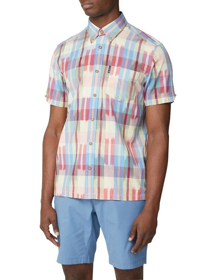 Short Sleeve Ikat Check Shirt image 1