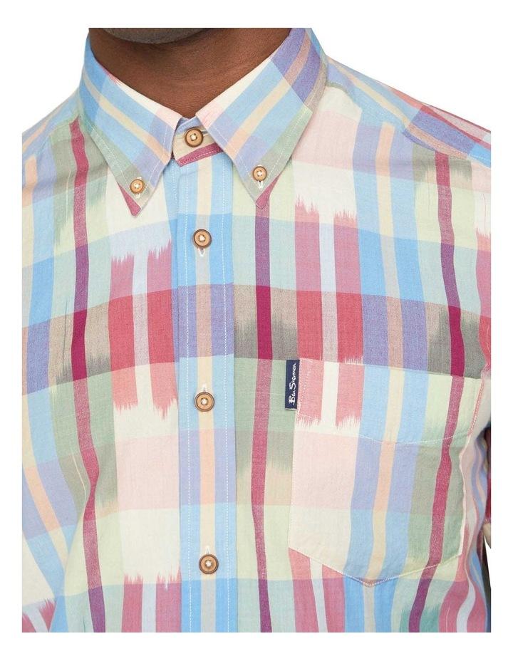 Short Sleeve Ikat Check Shirt image 3