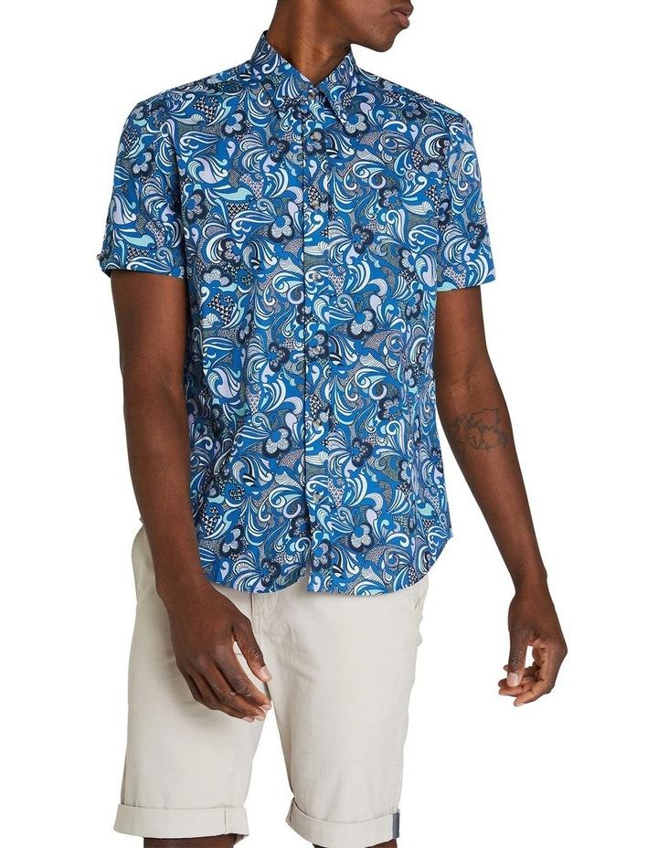 Short Sleeve Phychadelic Multi Print Shirt image 1