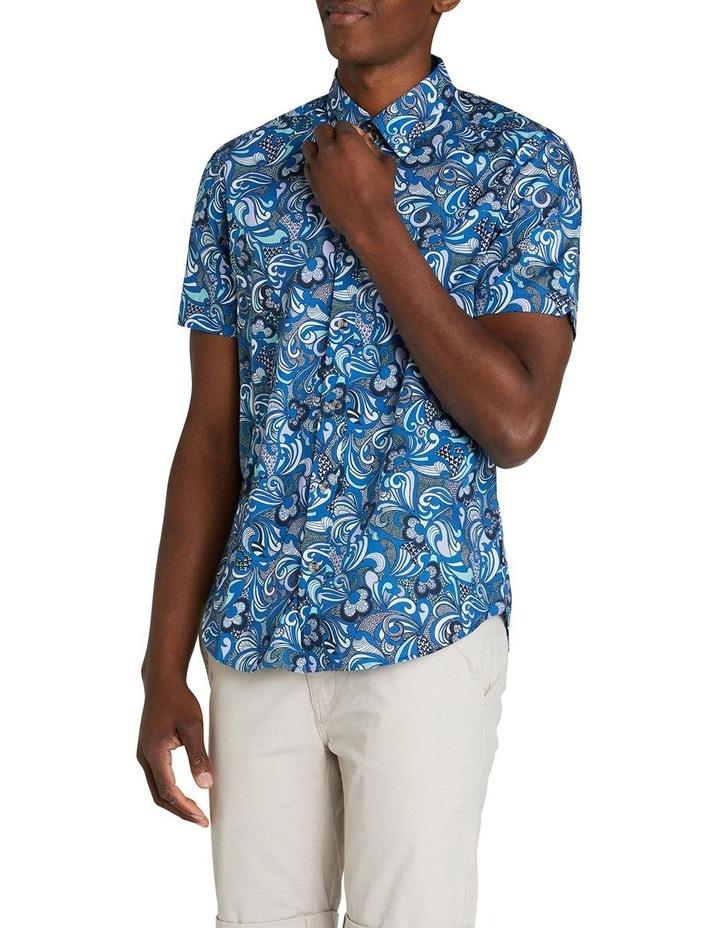 Short Sleeve Phychadelic Multi Print Shirt image 2
