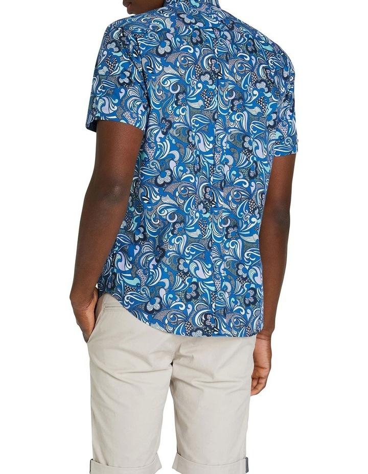 Short Sleeve Phychadelic Multi Print Shirt image 3