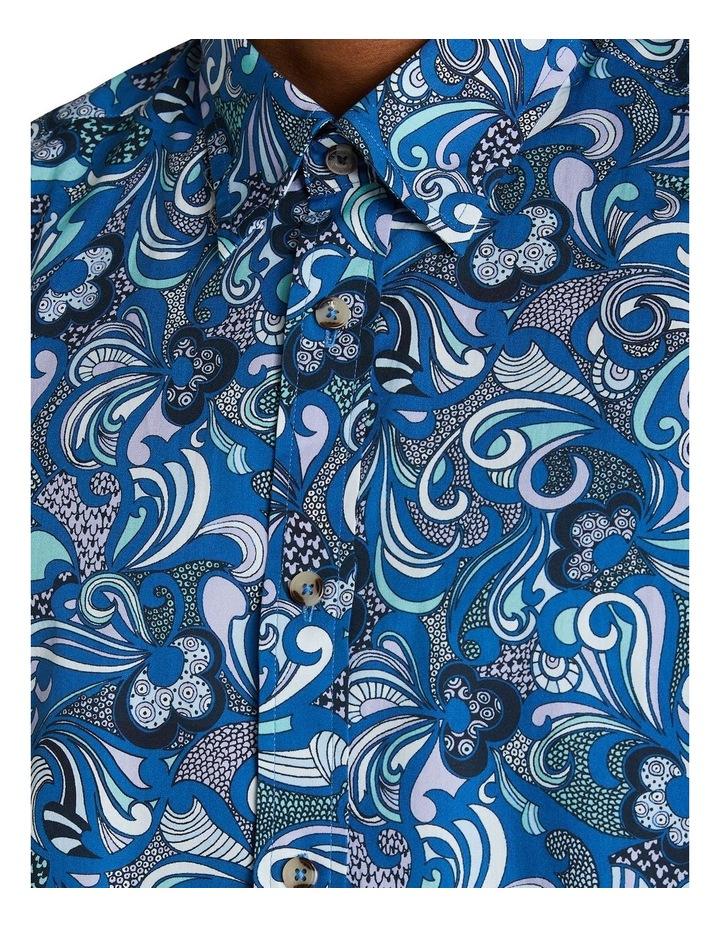 Short Sleeve Phychadelic Multi Print Shirt image 4