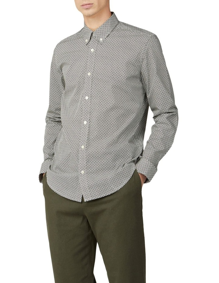Mono Geo Print Long Sleeve Shirt image 1