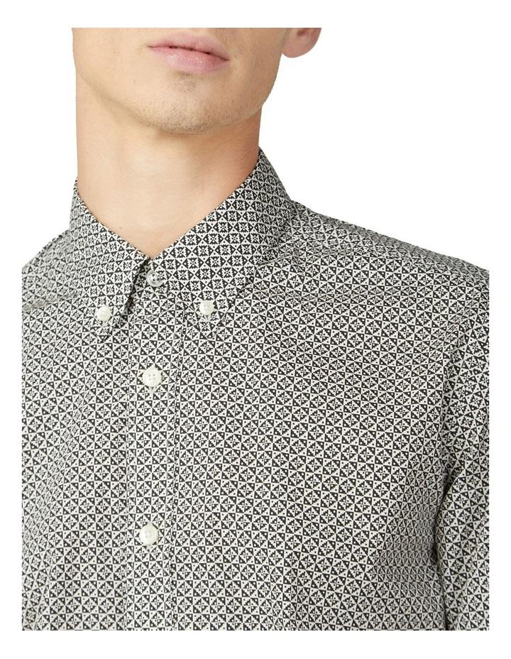 Mono Geo Print Long Sleeve Shirt image 3