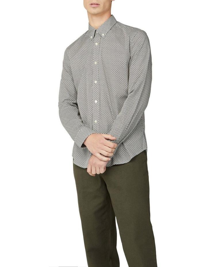Mono Geo Print Long Sleeve Shirt image 4