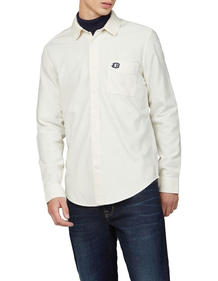Re-Cycled Cotton Rib Collar Long Sleeve Shirt image 1