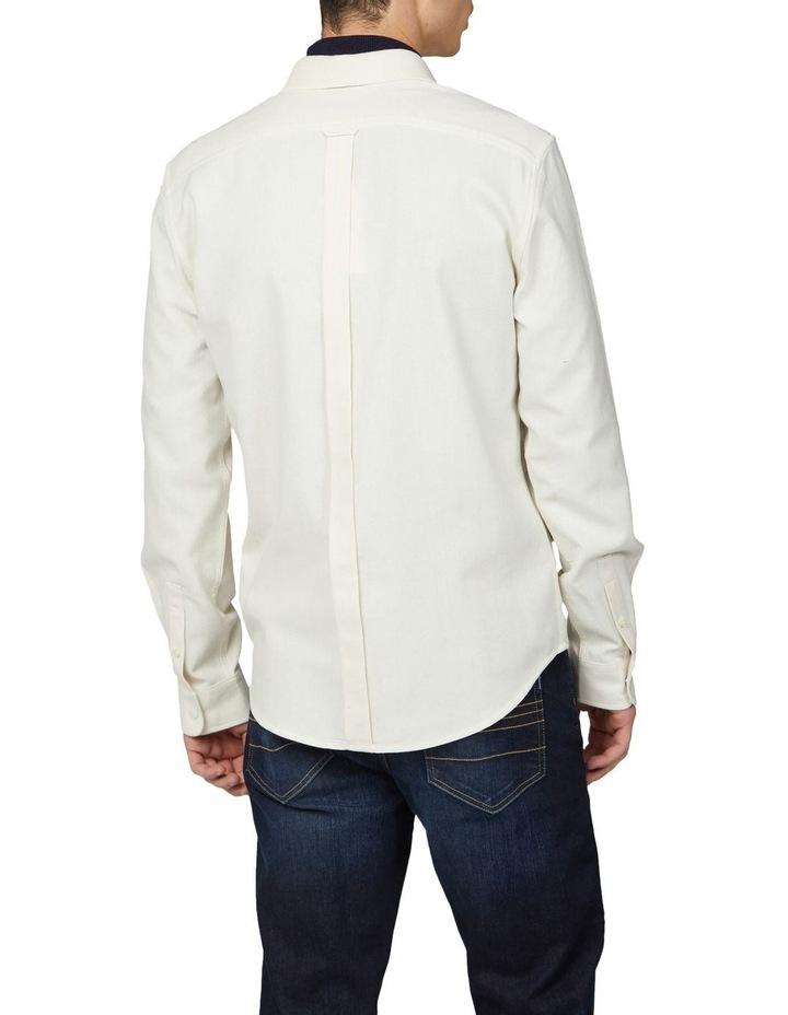 Re-Cycled Cotton Rib Collar Long Sleeve Shirt image 2