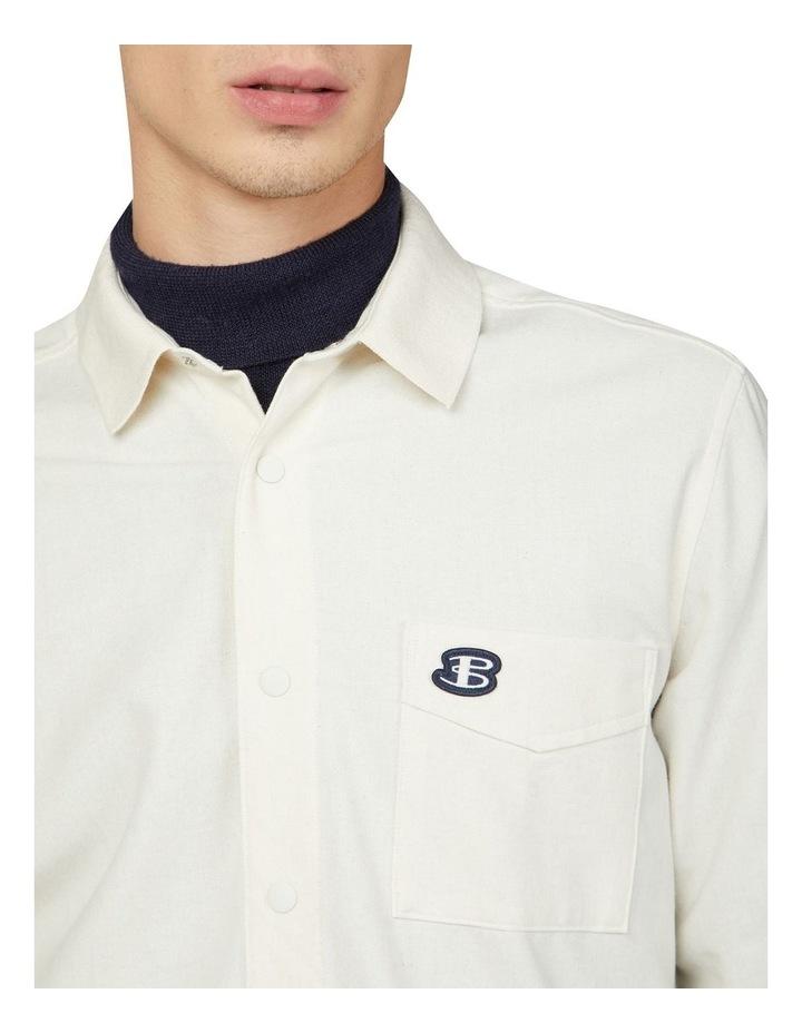 Re-Cycled Cotton Rib Collar Long Sleeve Shirt image 3