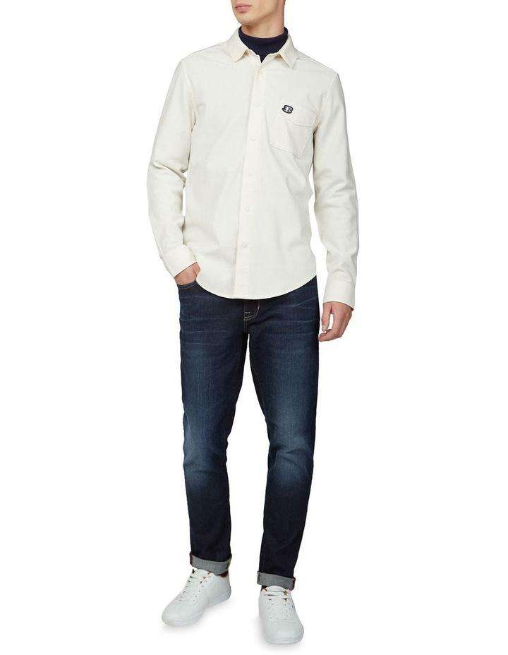 Re-Cycled Cotton Rib Collar Long Sleeve Shirt image 4