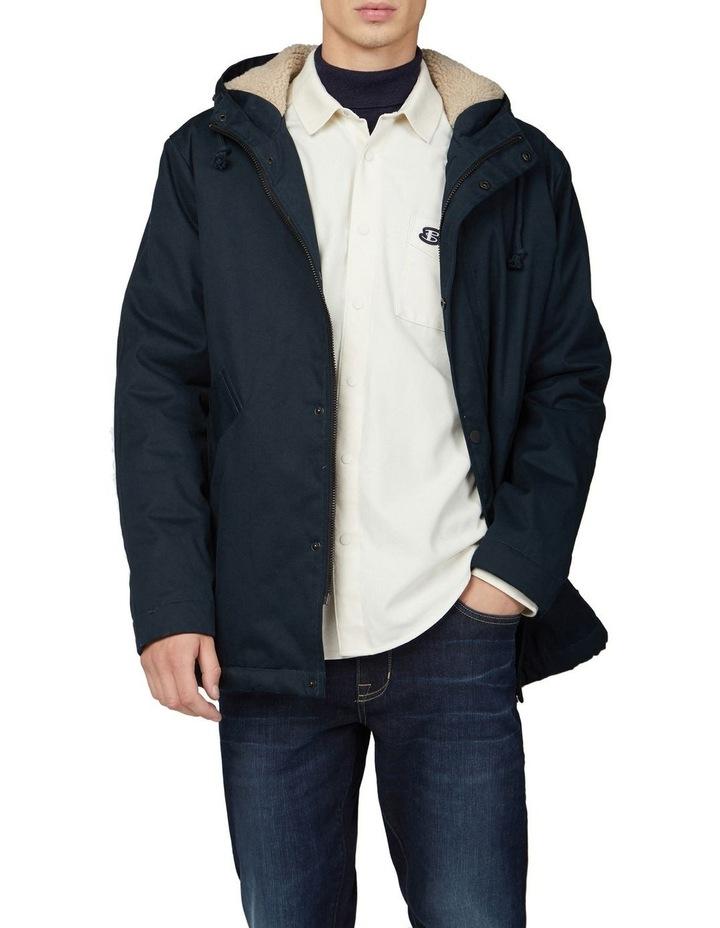Re-Cycled Cotton Rib Collar Long Sleeve Shirt image 5