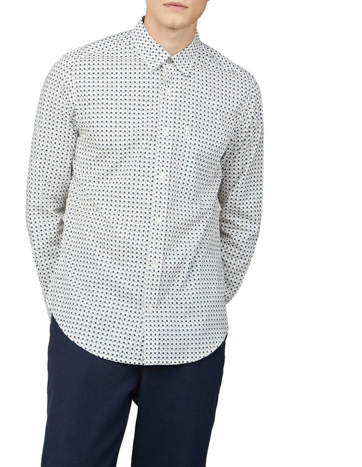 Scattered Square Print Long Sleeve Shirt image 1