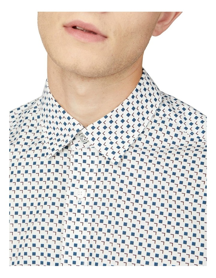 Scattered Square Print Long Sleeve Shirt image 3