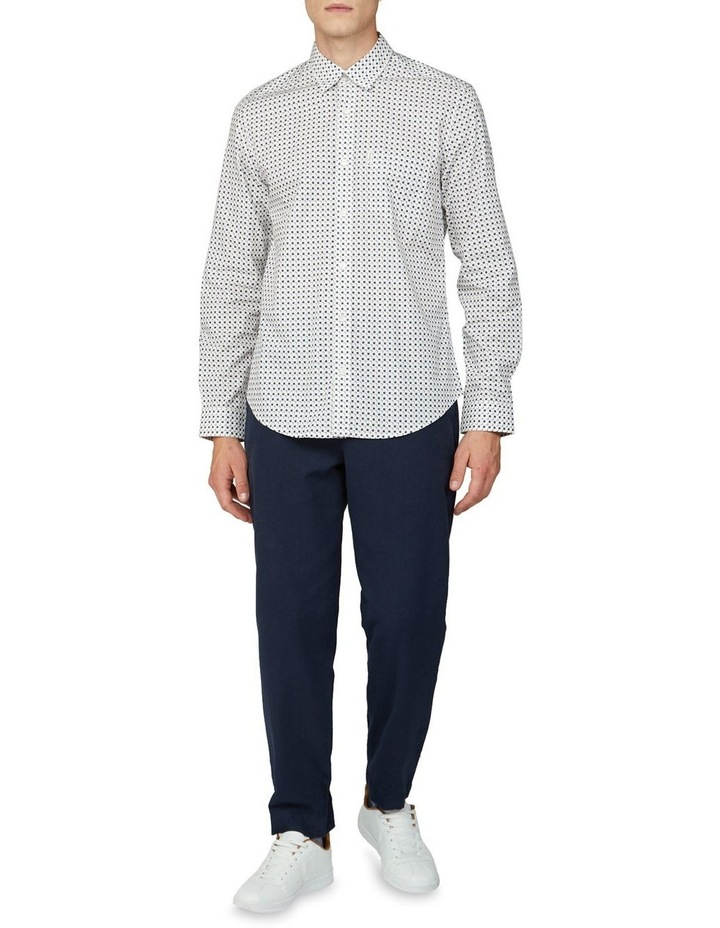 Scattered Square Print Long Sleeve Shirt image 4