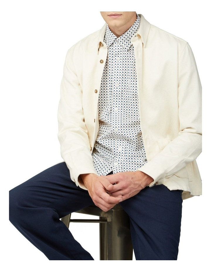 Scattered Square Print Long Sleeve Shirt image 5