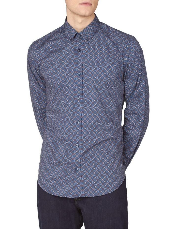 Long Sleeve Mini Foulard Print Shirt image 1