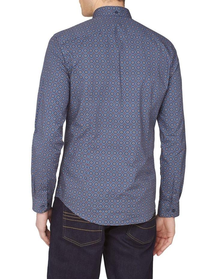 Long Sleeve Mini Foulard Print Shirt image 2