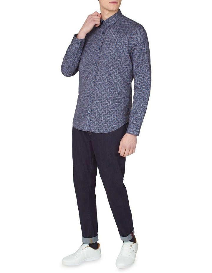 Long Sleeve Mini Foulard Print Shirt image 4