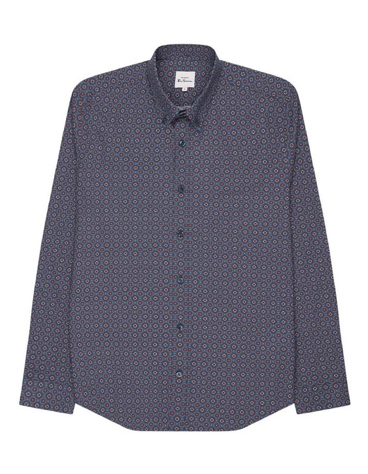 Long Sleeve Mini Foulard Print Shirt image 5