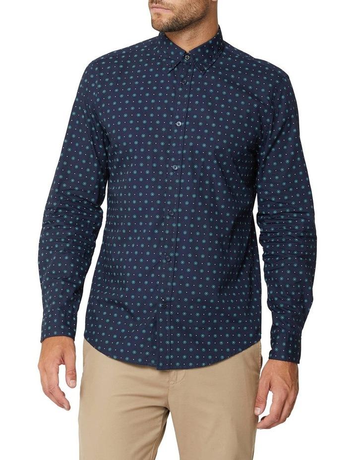 Graphic Geo Long Sleeve Mod Shirt image 1
