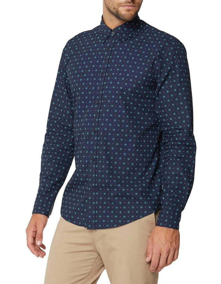 Graphic Geo Long Sleeve Mod Shirt image 2