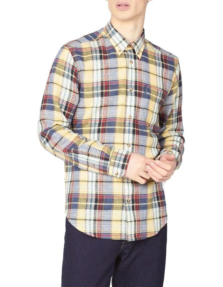 Long Sleeve Slub Madras Check Shirt image 1