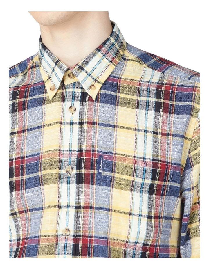 Long Sleeve Slub Madras Check Shirt image 3