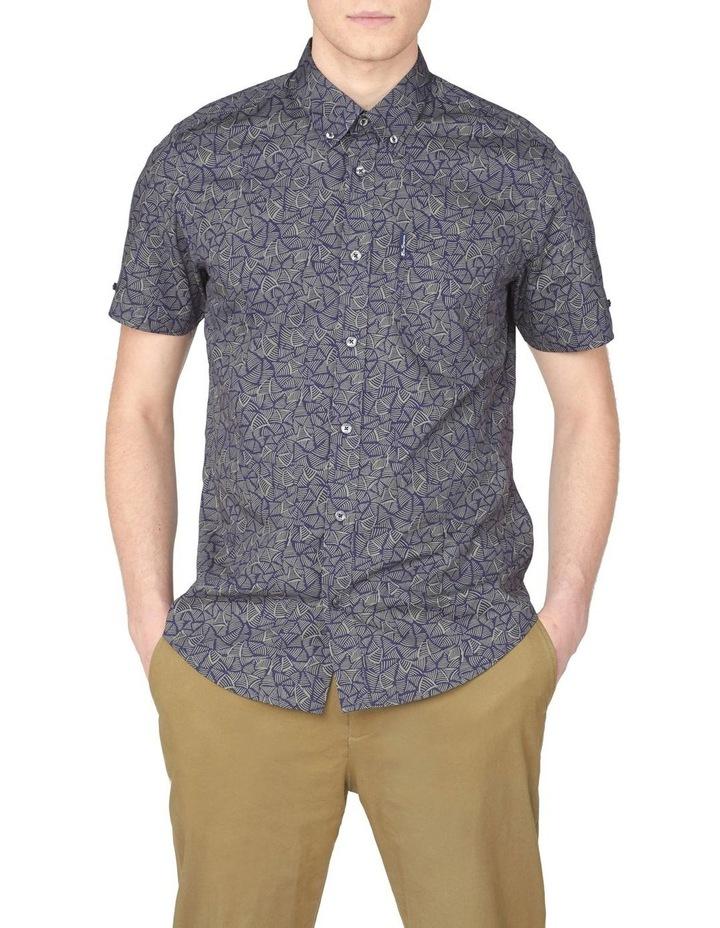 Short Sleeve Linear Print Shirt image 1