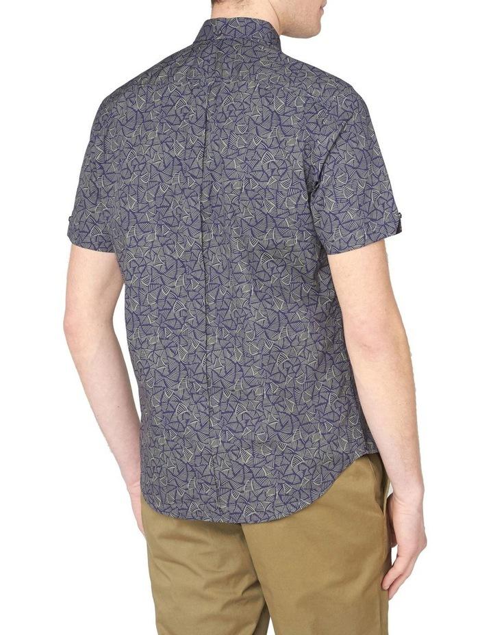 Short Sleeve Linear Print Shirt image 2