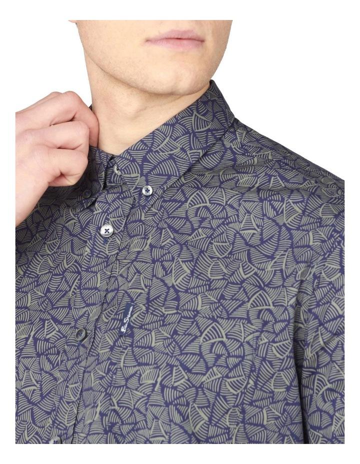 Short Sleeve Linear Print Shirt image 3
