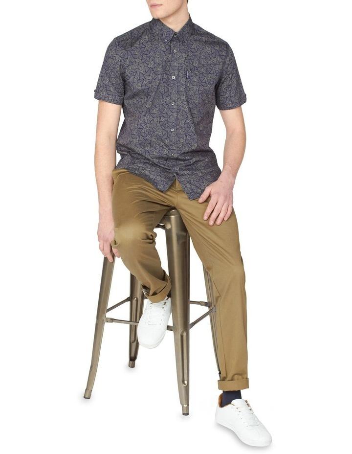 Short Sleeve Linear Print Shirt image 4