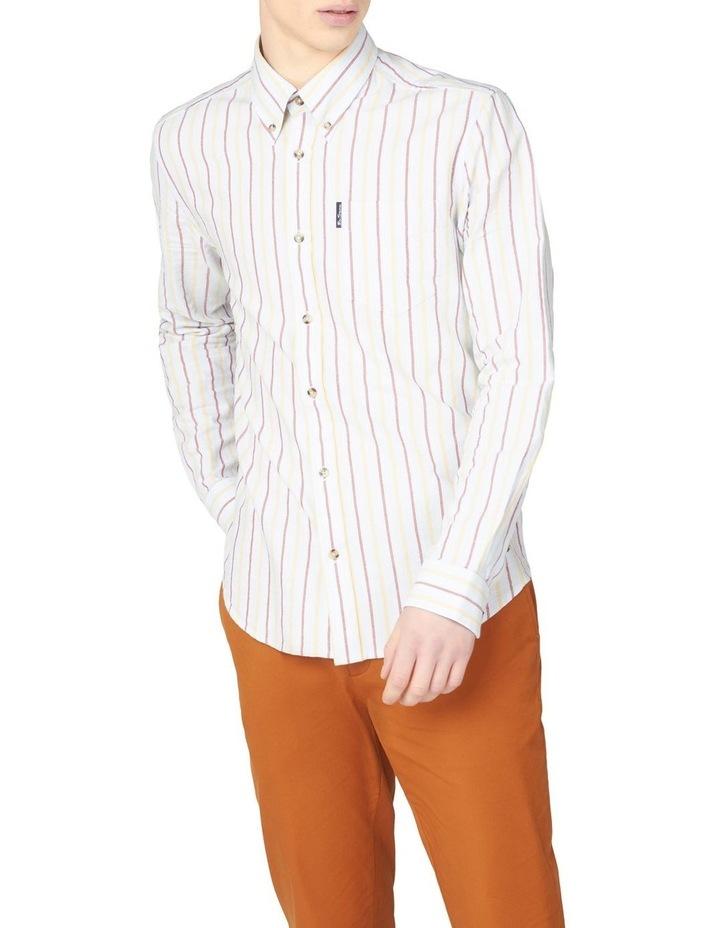 Laundered Oxford Stripe Long Sleeve Shirt image 1