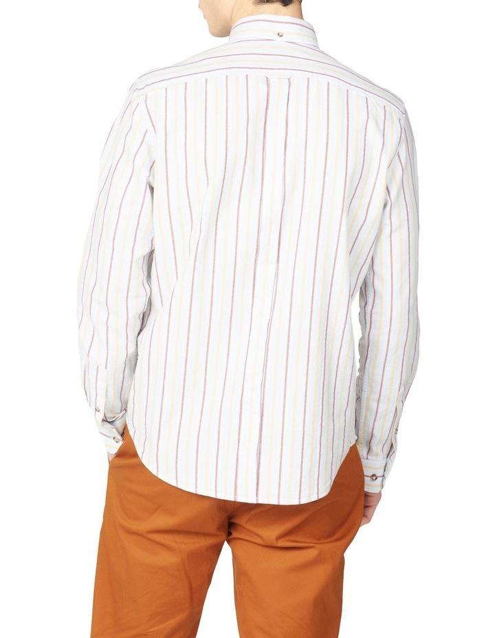 Laundered Oxford Stripe Long Sleeve Shirt image 2