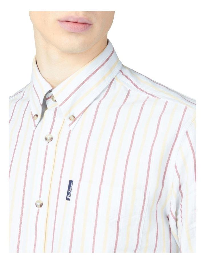 Laundered Oxford Stripe Long Sleeve Shirt image 3