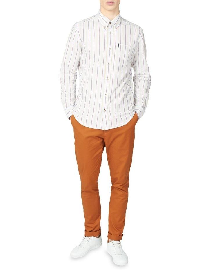 Laundered Oxford Stripe Long Sleeve Shirt image 4