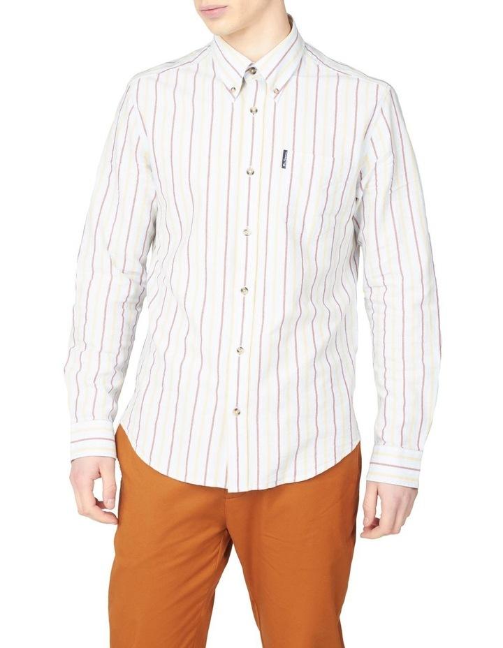 Laundered Oxford Stripe Long Sleeve Shirt image 5