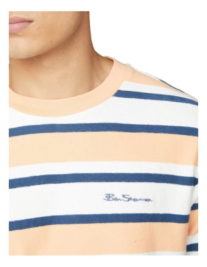Reverse Loopback Stripe Tee image 3