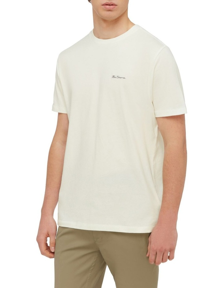 Signature Chest Embroidery Tee Ivory image 1