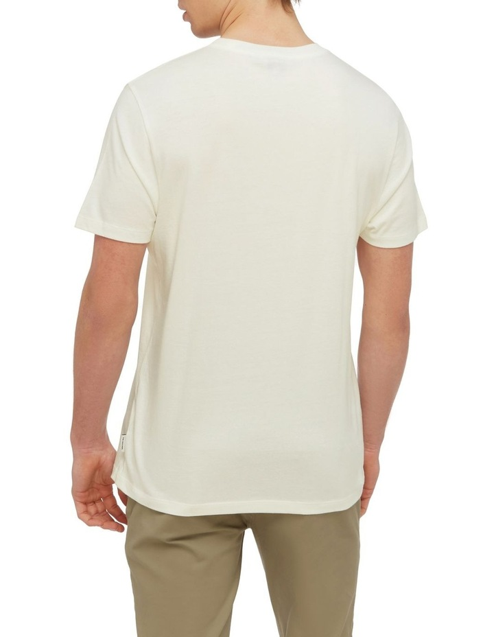 Signature Chest Embroidery Tee Ivory image 2