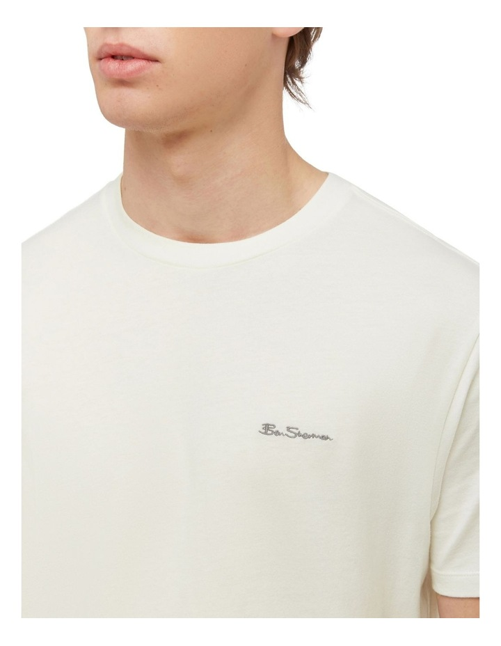 Signature Chest Embroidery Tee Ivory image 3